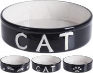 Миска для котів чорна 18x5 см