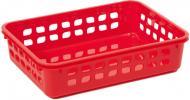 Кошик для зберігання пластиковий Lamela 271 червоний 60x140x190 мм