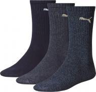 Носки Puma Puma Sport 3-pack 88035503 р. 43-46 синий