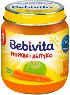 Пюре Bebivita Морква і яблуко 125 г 9007253104135