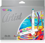 Набір маркерів Colorino Artist 1-5 мм 12 шт. 92470PTR різнокольоровий