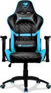 Кресло Cougar геймерское Armor One Sky Blue черно-синий