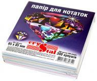 Папір для нотаток 85x85 мм 300 аркушів мікс Crystal