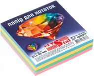 Папір для нотаток 85x85 мм 300 аркушів різнокольоровий Crystal
