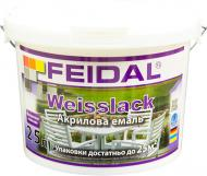 Эмаль Feidal акриловая Weisslack белый глянец 2,5л