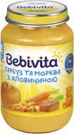 Пюре Bebivita Гарбуз і морква з яловичиною 190 г 9007253104197