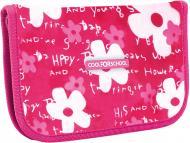 Пенал шкільний Flowers CF86604 Cool For School рожевий