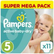 Підгузки Pampers Active Baby-Dry Junior 11-18 кг Мікро 11 шт.