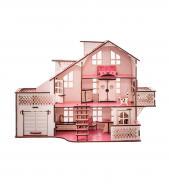 Кукольный дом GoodPlay 57х27х35 с гаражом и подсветкой (В011)