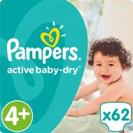Підгузки Pampers Active Baby-Dry Maxi Plus 9-16 кг Джамбо 62 шт.