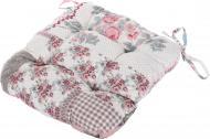 Подушка на стул Indigo стеганая серия Soft 38х38х8 см розовая