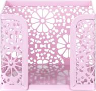 Бокс для паперу Barocco 9,8x9,8x8 см рожевий