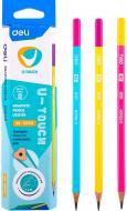 Олівець графітний EU53100 мiкс 2B U-Touch Deli
