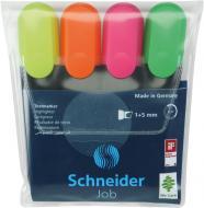 Набір текстових маркерів Schneider Job 150 1-4.5мм 4 шт. S1500** різнокольоровий