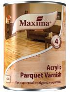 Лак паркетний поліуретан-акриловий Acrylic parquet varnish Maxima шовковистий мат безбарвний 0,75 л