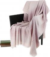 Плед Rombo 140x200 см розовый с белым La Nuit