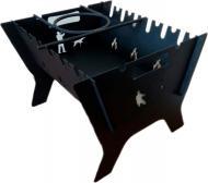 Мангал разборный в комплекте с подставкой под котел