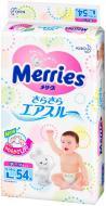 Підгузки для дітей Merries L 9-14 кг 54 шт.