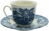 Чашка с блюдцем Мельница 240 мл Claytan Ceramics