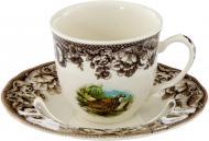 Чашка с блюдцем Охота 240 мл Claytan Ceramics