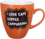 Чашка I love cafe Orange 920 мл Bella Vita