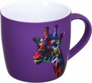 Чашка Neon Giraffe 350 мл сиреневая