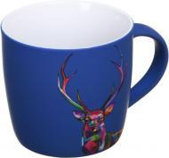 Чашка Neon Deer 350 мл темно-синяя