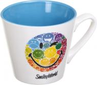 Чашка Rainbow 250 мл белая с голубым Smileyworld