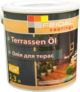 Масло для древесины Feidal Terrassen Ol бесцветный шелковистый мат 2,3 л