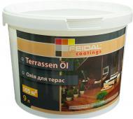 Масло для древесины Feidal Terrassen Ol бесцветный шелковистый мат 9 л