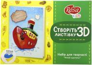 Набір, техніка кардмейкінг 3D листівка «Нехай щастить!» Rosa Kids
