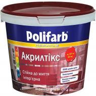Краска акриловая Polifarb Акрилтикс мат белый 7кг