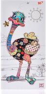Блокнот BugArt. White ostrich 100х200 мм YES