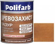 Лазурь Polifarb Деревозащита тик глянец 0,7 кг