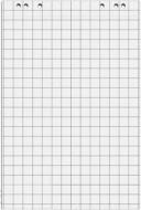 Блокнот для флипчарта 20 листов в клеточку 64х90 см O75307 Optima