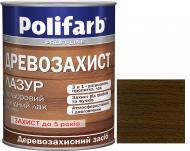 Лазурь Polifarb Деревозащита темный дуб глянец 0,7 кг