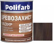 Лазурь Polifarb Деревозащита полисандр глянец 0,7 кг