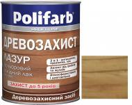 Лазурь Polifarb Деревозащита золотая сосна глянец 0,7 кг