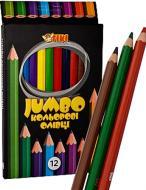 Олівці кольорові JUMBO 51622-TK (12/144) 12 шт. Тікі