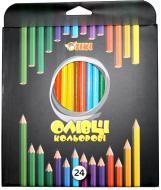 Олівці кольорові 51620-TK (12/144) 24 шт. Тікі
