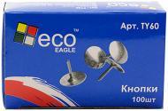 Кнопка Eco-Eagle TY 60 нікельовані 100 шт d9мм
