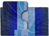 Набір килимків Dariana ColorLine New 60х100 см + 50х60 см синій