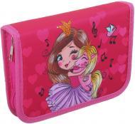 Пенал шкільний Дівчинка рожевий з малюнком