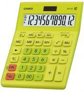 Калькулятор настільний GR-12C-GN-W-EP великий дисплей, жовто-зелений Casio
