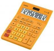 Калькулятор настільний GR-12C-GN-W-EP великий дисплей, помаранчевий Casio