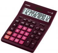 Калькулятор настільний GR-12C-GN-W-EP великий дисплей, бордовий Casio