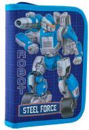 Пенал твердий одинарний без клапану HP-02 Steel Force Smart синій