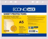 Файли А5 Economix, 40 мкм, фактура помаранч (100 шт/уп) Economix