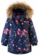 Куртка детская для девочки Reima Mimosa р.80 темно-синий 511272-6983