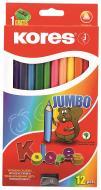Олівці кольорові Jumbo K93512 12 шт. Kores